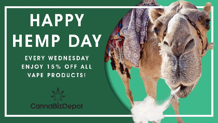 CannaBiz Depot - Happy Hemp Day - Wednesday 15% Discount on ALL products All day long