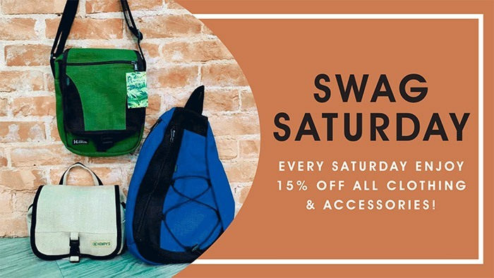 CannaBiz Depot - Swag Saturday - 15% off ALL clothing & accessories.